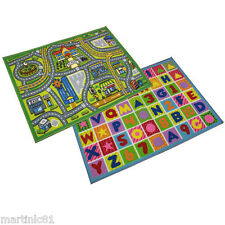 XL PLAY MAT ROAD RUG CAR BOYS KIDS CHILDREN GRIP REAL RUG LEARN ABC TOY CARS NEW