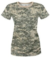 t-shirt camo womens army acu digital camouflage longer length rothco 5677