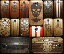 Carving Genuine Wooden Bamboo Case Cover For SAMSUNG GALAXY S4 MINI S IV i9190