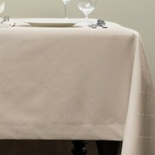 ELEGANT SFERRA JULIET EASY CARE TABLECLOTH IN WHITE OR IVORY