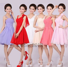 Hot Sale Padded Short Mini Bridesmaid Prom Party Evening Dress For Wedding