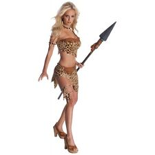 Jane Costume Adult Tarzan Jungle Cave Girl Cavegirl Halloween Fancy Dress