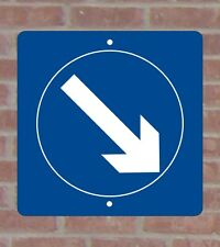 Keep Right.040 White Aluminum Sign Standard Vinyl Copy