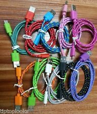 3M 3 METER FLAT NOODLE BRAIDED MICRO USB SYNC CABLE CHARGER SAMSUNG BLACKBERRY