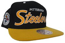 Pittsburgh Steelers NFL Mitchell & Ness Adjustable Vintage Snapback Hat