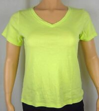 Womens NWT Style & Co. Bright Green Essential Tee Top T-Shirt Plus Size 1X 2X