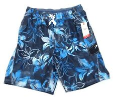 Speedo Blue Floral Water Shorts Swim Trunks Boardshorts Mens NWT