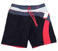 Speedo Black Brief Lined Water Shorts Swim Trunks Boardshorts Mens NWT