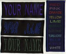 """2"""" x 5.75""""  Custom Name Tag  Patch with Velcro [hooks]  - YOUR NAME; asst colors"""