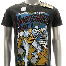 m273b Minute Mirth T-shirt M L Tattoo Skull Street Gangster Super Hero Fighter