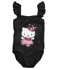 NEW Hello Kitty Little Girls Flutter Sleeve Leotard ~ Black or Pink ~ L or XL