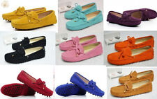 HOT SALE Candy COLOR  Womens Nubuck Cow Leather Lace-up Driving Moccasin Shoes