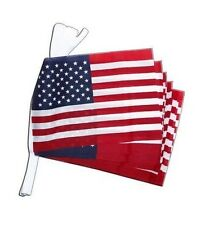"Giant Flag Bunting - 18m 30 Flags 18 x 12"" - Union Jack Happy Birthday USA Wales"