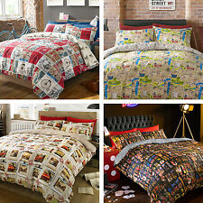 #bedding New Contemporary Single Double King Size Duvet Quilt Cover Bedding Set