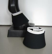 Horse Bell or overreach Boots Black & White AUSTRALIAN MADE Protection