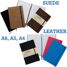 Premium Leather or Suede Effect Business Notebooks Notable Hardback Note Pads