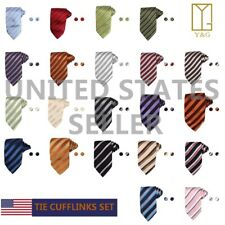 YAB2B11 Various of Colors Patterned Marriage Gift Silk Ties Set 2PT By Y&G