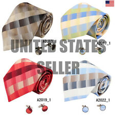 YAB2C04 Cheap Multicolored Checkered Thank You Gift Silk Ties 2PT By Y&G