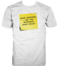 Mens Funny Saying T-Shirts-Assassins Have Failed-Funny Tees For Men
