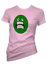 Womens Funny Sayings T Shirts-Scared Face-Ladies Funny Smileys Tees