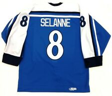 TEEMU SELANNE AUTHENTIC FINLAND OLYMPIC JERSEY ANAHEIM DUCKS