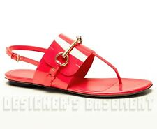 GUCCI Begonia pink Patent Leather URSULA thong HORSEBIT Buckle sandals NIB Auth