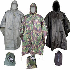High Quality Waterproof  US Ripstop Nylon Military Style Poncho Army Basha