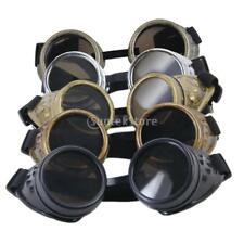 Rustic Cyber Goggles Steampunk Glasses Welding Goth Cosplay Fancy Dress Props