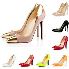 NEW WOMENS HIGH HEELS SHOES POINTED PATENT PUMPS COURT AU SIZE 3.5-8.5