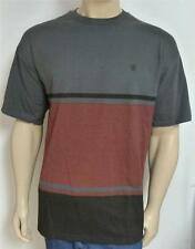 Element Andrew Stripe Tee Shirt Mens Gray Shirt Tee T-Shirt New NWT