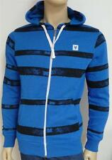 Zoo York Acid Stripe Mens Blue Stripe Zip Hoodie Sweatshirt Jacket New NWT