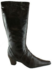 ORIZONTE ARLINGTON WOMENS/LADIES LEATHER BOOTS/KNEE HIGH/SHOES/HEELS/CLEARANCE