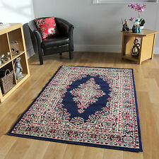 NEW BLUE TRADITIONAL RUGS SMALL LARGE RUG RUNNER SOFT MODERN LOUNGE RUG CHEAP