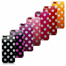 iPhone 5 5S Polka Dots Silicone Rubber Protector Case Cover Screen Protector