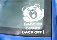 Small to Large Ted Back Off Baby on Board Funny Movie Car Stickers Decals Film