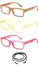Women Clear Translucent Color Frame Reading Glasses Classic Fashionable Style