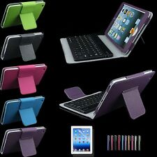 For Apple iPad Mini Stand Leather Case Cover With Removable Bluetooth Keyboard