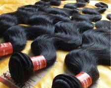Natural Black 5A Unprocessed Virgin Brazilian Human Hair Extensions Body Wave