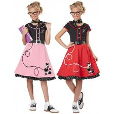 Poodle Skirts 50s Costumes for Kids Girls Halloween Fancy Dress
