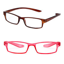 Flat Texture Clear Translucent Color Reading Glasses Wraps Around Neck Readers