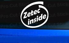 Zetec inside Small to Large stickers decals For Ford Fiesta Focus Puma KA Mondeo