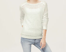 Ann Taylor LOFT Scalloped Neck Cotton Sweater Pullover Various Colors and Sizes