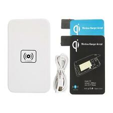 New QI Wireless Charger Pad/Mat White + Receiver for Samsung Galaxy S5 SV i9600