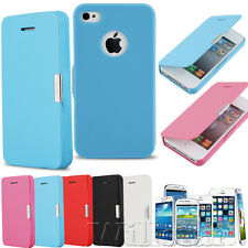 FLIP MAGNETIC LEATHER THIN CASE COVER FOR SAMSUNG GALAXY IPHONE VALENTINE GIFTS