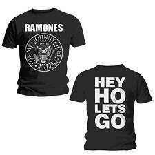 RAMONES Hey Ho T-shirt (Black/2-sided) Mens New 'Official'