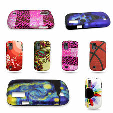 Hard Plastic Snap On Rubber Design Phone Cover Case For ZTE Avail 2 / Prelude