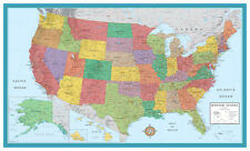 United States USA-US M-Series Wall Map Mural Poster - CANVAS