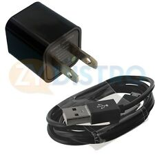Black Wall Home Travel Charger + Micro USB Data Sync Cable For Cell Phones