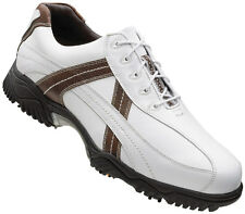 FootJoy Contour Golf Shoes 2014 White/Brown 54043 Closeout Mens New