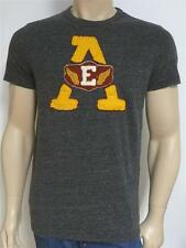 American Eagle Outfitters AEO Tee Mens Heather Gray Applique T-Shirt New NWT